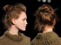 2017 kış trendi dağınık balerin topuz saç modelleri
