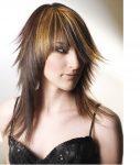Düz Ombreli Katlı Kesim Saç Modelleri