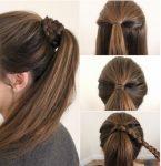 Örgü Sarmalı At Kuyruğu Saç Modeli