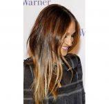2017 Koyu Kahverengi Kullanılan Işıltı Saç Modelleri
