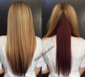 2017 Popüler Alt Kızıl Ombre Saç Rengi Modeli