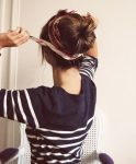 Bandana İle Saçı Toplu Tutma