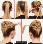 Basit Örgü İle Yapılan Topuz Saç Modelleri