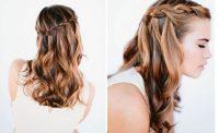 Dalgalı Saç Tipine Özel Örgü Saç Modeli