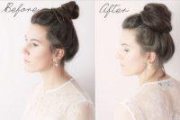 Öncesi ve Sonrası İnce Yapılı Saçlar için Topuzlar