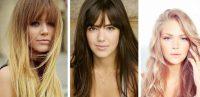Uzun Yüzlü Kadınlar için Perçemli Saç Uzun Saç Modelleri