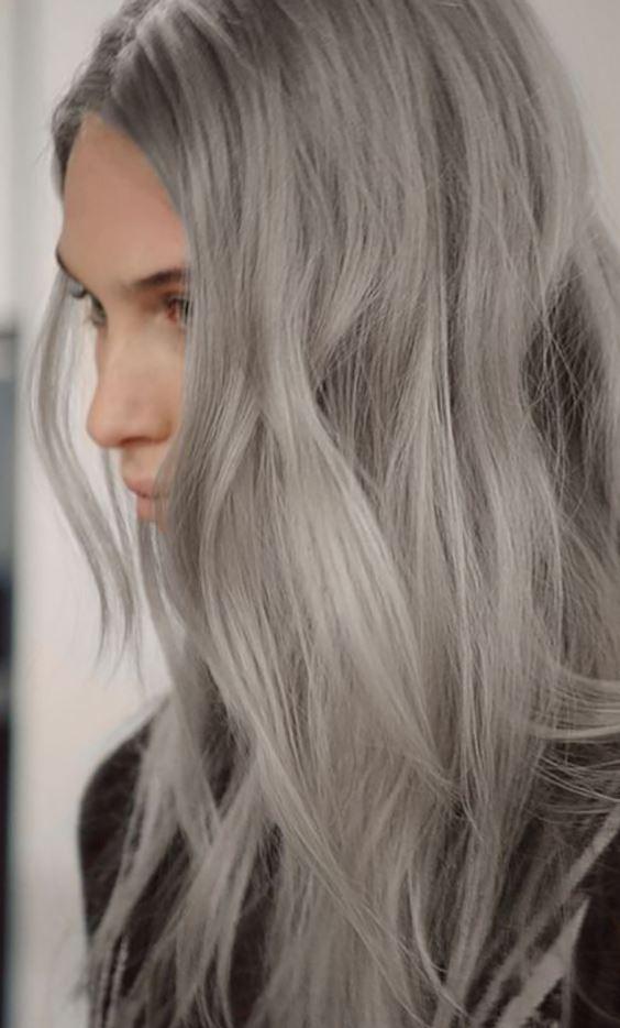 Efsane Küllü Gri Saç Rengi Modeli
