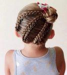 Kız Çocuklarına Özgü Örgü Saç Modeli