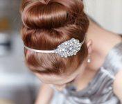 Mücevherli Topuz Gelin Saçı