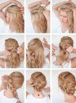 Okul Komple Örgü Toplu Saç Modeli