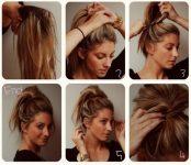 5 adımda günlük saç modeli