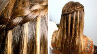 Şelale Tipi Örgü 2017 Saç Modelleri