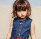 Kahküllü Kız Cocuk Bob Saç Modeli