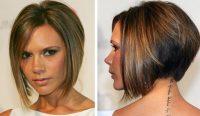 David Backham Eşi Önu Uzun Arkası Kısa Saç Modeli