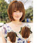 Kahküllü Orta Saç Japon Saç Stilleri
