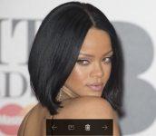 Rihanna Saç Modelleri Lob Stili
